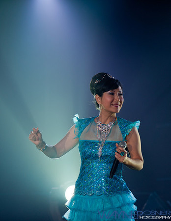 Cecilia Fong performs during the Harvest Moon Fest at the Riviera Casino