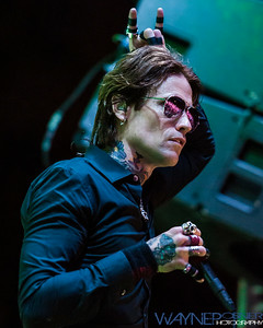 Buckcherry performs poolside at the Hard Rock Hotel in Las Vegas, NV