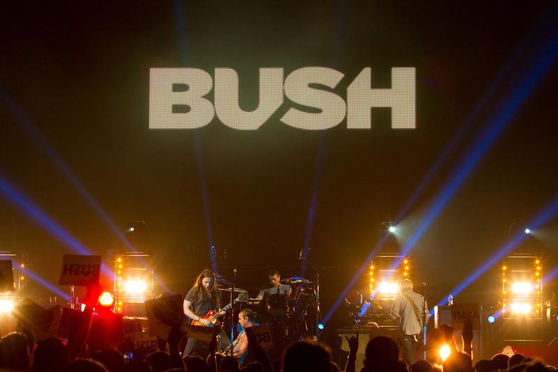 Bush in Portland