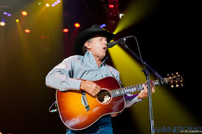 George Strait performs at the MGM Grand Garden Arena in Las Vegas