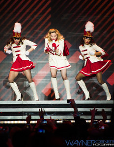 Madonna performs at the MGM Grand Garden Arena in Las Vegas, NV on Oct 13, 2012
