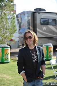 Jerry Becker with Train at Mix 94.1 Petapalooza