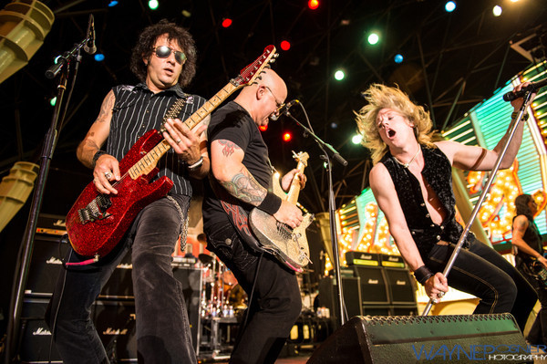 Warrant performs on the 1st Street Stage at the Fremont Experience