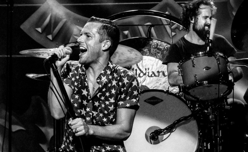 Brandon Flowers and Ronnie Vannucci, Jr. of The Killers Hard Rock Live - Orlando, Florida August 16th, 2013