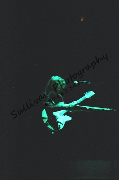 Steve Howe of Yes in surreal lighting