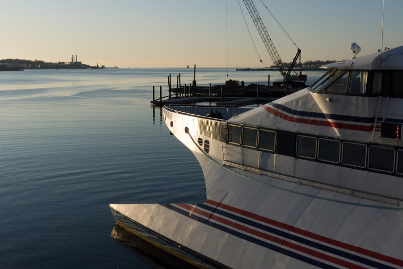 Sunrise at the Ferry Dock, New London, CT