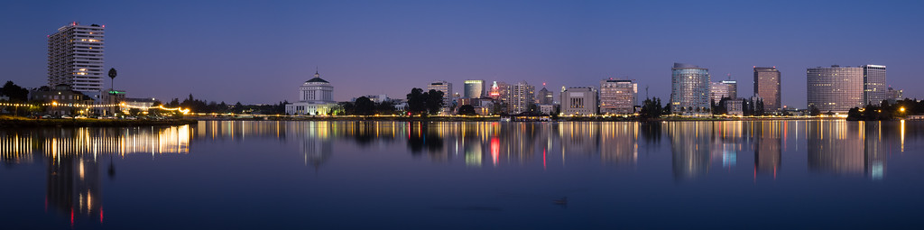 6:40 am, Lake Merritt Panorama