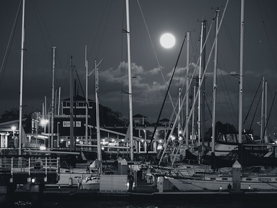 Masts and Moonrise