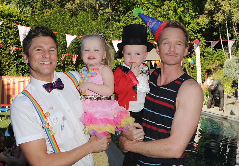 David Burtka and Neil Patrick Harris celebrate the birthday of their twin children, Gideon and Harper with a carnival themed party, Sunday, Oct. 15, 2012, in Sherman Oaks, Calif. (photo by WINNK by Katy Winn)