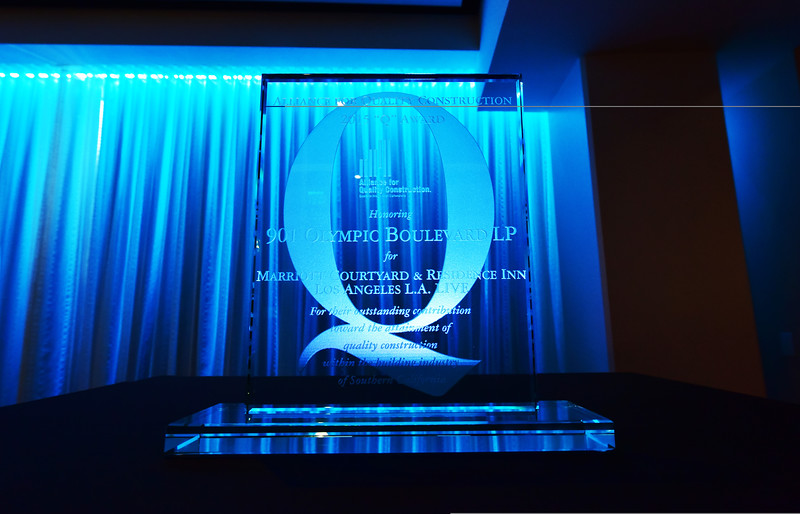The Alliance for Quality Construction 2015 Q Award Honors Marriott Courtyard & Residence Inn Los Angeles L.A. LIVE