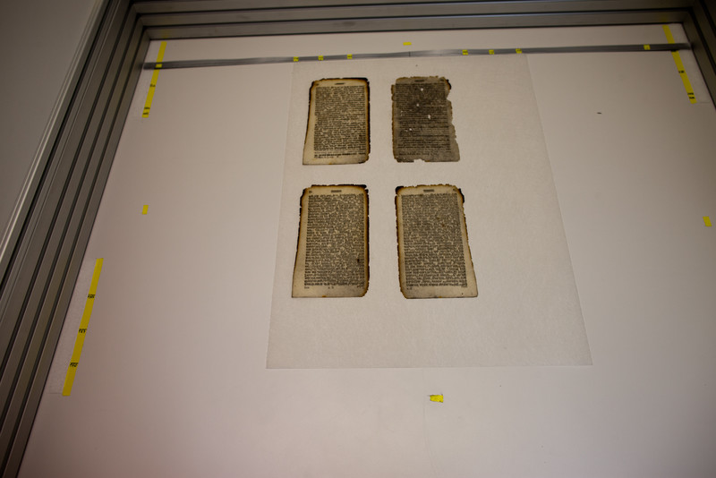 Scanplatz zur Bestimmung der nötigen Faserbreimenge