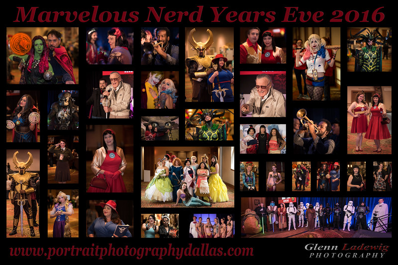 Marvelous Nerd Years Eve Event Collage