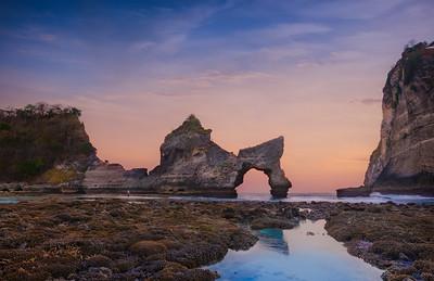 Indonesia sunset in Nusa Penida