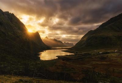 Lofoten sunset somewhere