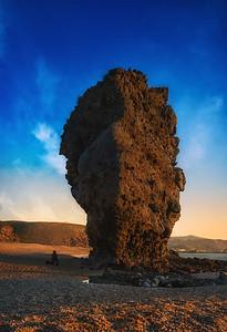 Spain sunrise in the rock