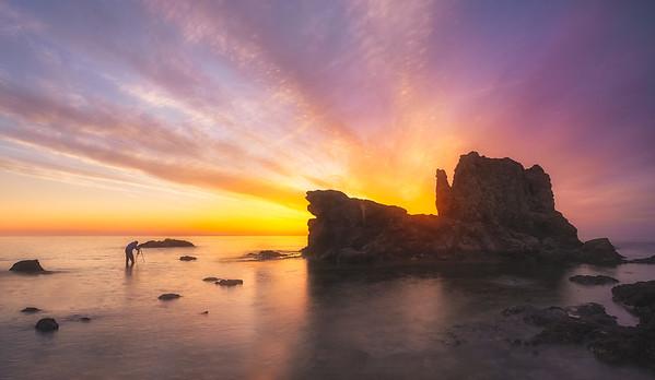 Andalucia fire sunrise in Cabo de Gata 7R25194