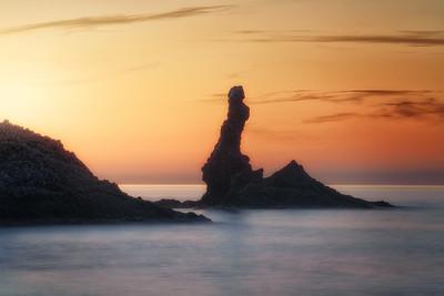 Golden hour in the rock