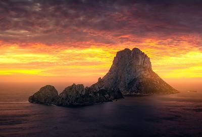 Ibiza Es Vedra fire in the sky A736217