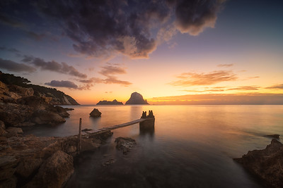 Ibiza looking the blue hour A736193