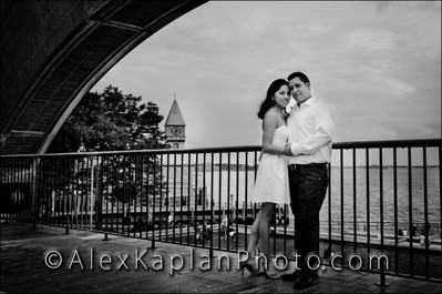 Engagement Portrait Session In Battery Park, New York City By Alex Kaplan