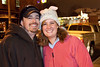Melissa Barnett and Bryan Hetherington get close for the shot (and because it was cold.)
