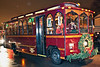 The Trolley kept up its seasonal appearances and scooped up patrons every couple of minutes.