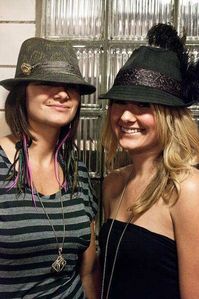 The cool hats belong to Megan McNamara and Natalie Pearce.