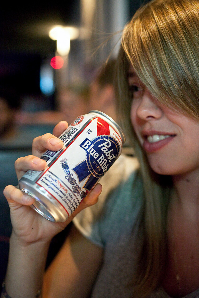 PBR remains the preferred beverage in hipster hangouts.