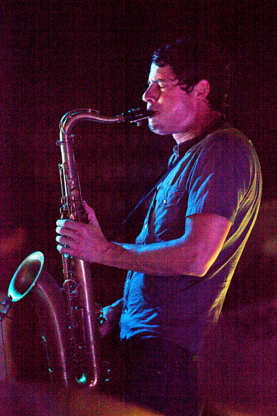 Saxophonist Dominic Lalli of the band Big Gigantic jammed to a packed house at Zanzabar on Saturday night.