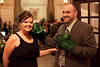 What green event would be complete without a Hulk reference? Scott Cissell and Allison Byrne get touchy-feely with some Hulk gloves.
