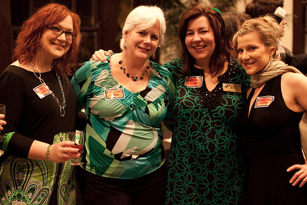 (Left to Right) Candace Jaworski, Shelly Santry, Mayoral Candidate Shannon White, and Tracy Kitten do a little campaigning.