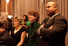 Councilman and Mayoral Candidate David Tandy listens in on the awards portion of the Green Tie Bash.