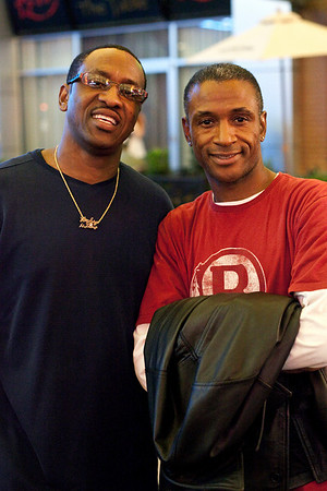 In Living Color comedian Tommy Davidson takes in the sights of Fourth Street Live while here in town to perform at the Comedy Club.
