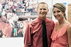 Kelcie Burke and Hank Heidrich take in a few exhibits during Disco at the Downs.