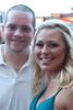 Matt and Jenni Bomar kept cool as the sun blasted early partiers for the last time.