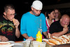 A hot dog eating contest was part of the traditional summer theme party at Electric Cowboy.