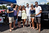 (Left to Right) Jimmy Logsdon, Heather Logsdon, Cristen Singer, Audrey Patton, Greg Chandler, Bekah Parrino, and Mike Parrino do a little tailgating at HullabaLOU.