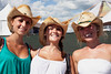 Sarah Schaefer, Christen McAllister, and Camille Ogden like a hat that does the job.