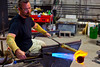 Glass blower Paul Nelson puts his skills on display at Flame Run.