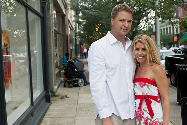 Kim Skaggs and Tim Wessel take in some window shopping along East Market Street.
