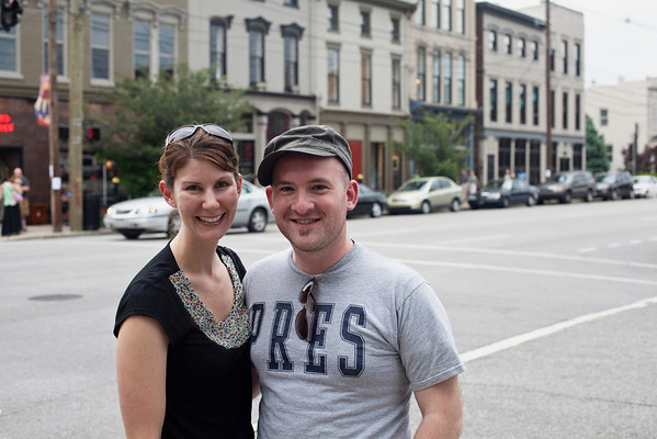 Brandon Bass and Beth Blackford take to the streets on a balmy Friday evening.