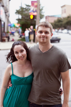 Amber Shelidire and Robert Stallard enjoy the view from Market and Shelby Streets.