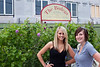 Jennifer Ostewig and Kayla Jarrell take in the vineyards at Felicia's and The Bodega.