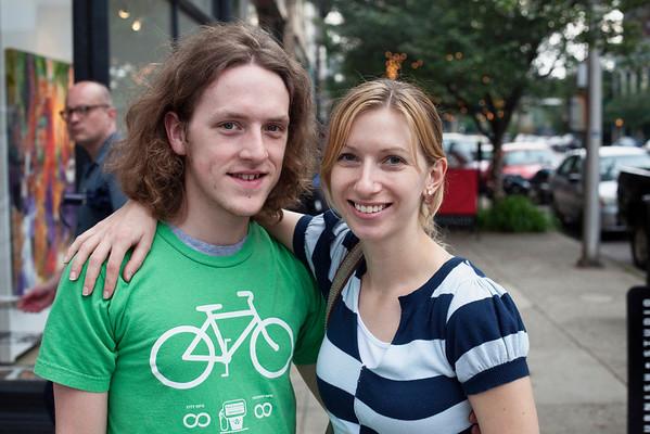 Kristen Bondehagan and Tyler Gordon get close for the shot.