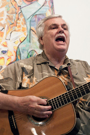 Guitarist Jim Cowles of the Potluck Ramblers carries the tune.