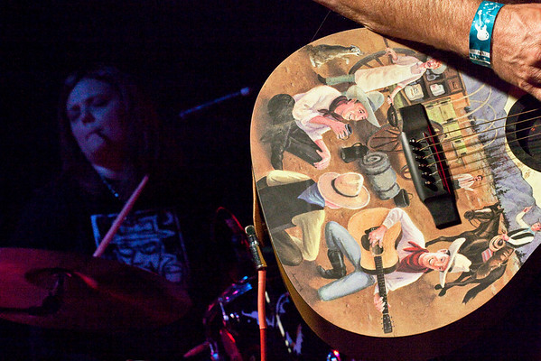 Popular local band Your News Vehicle brought the crowd to its feet during Gonzo Fest at the Monkey Wrench.