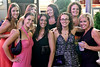Bachelorette Amanda Rader (front row, 2nd from left) goes out on the town with friends Catherine Birdwhistell, Erica Alexander, Brinkley Oliver, Sara McKenney, Laurel Ward, Kari McGee, and Camille Worley.