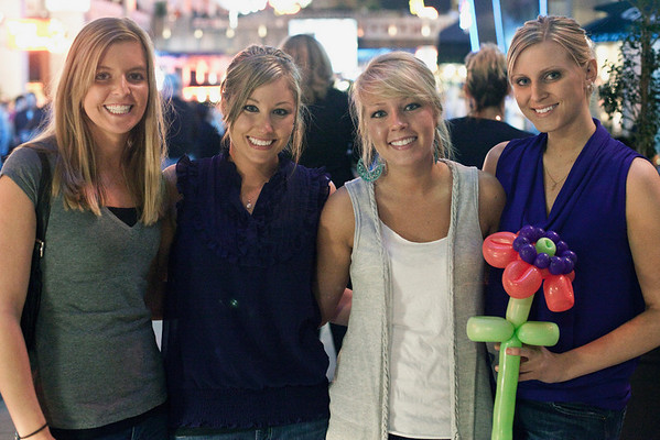 Lauren Fussinger, Courtney Suhre, Ashley Ogden, and Kyla Jungclaus defined southern charm. (By Marty Pearl, Special to the Courier-Journal) April 29, 2010