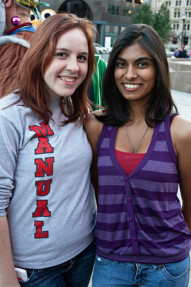Cassie Seelbach and Kshma Kulkarni brought their best smiles.