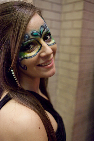 A Carnival theme throughout Fourth Street Live lead to some creative face painting amongst the various staffs.
